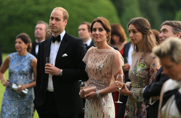 Kate and William at a gala charity dinner